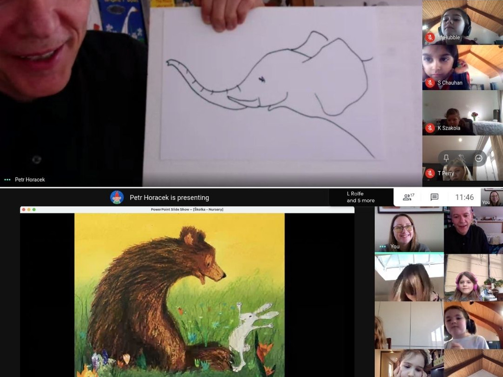 Author and illustrator, Petr Horáček, visits Year 2 at Abbot's Hill School