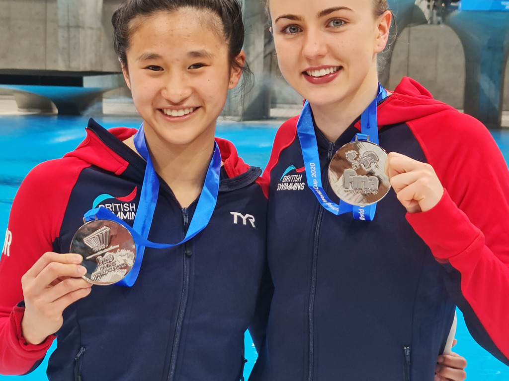 Alleyn's sixth-former Eden Cheng and diving partner Lois Toulson