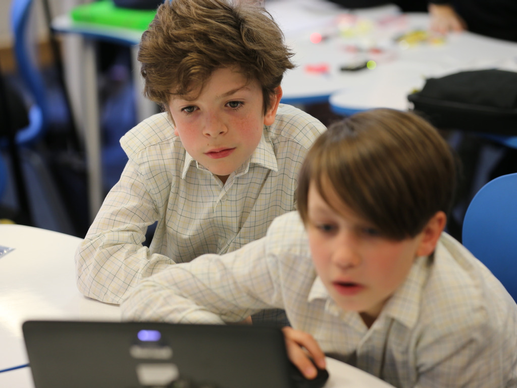 Amesbury pupils receive their own laptops.