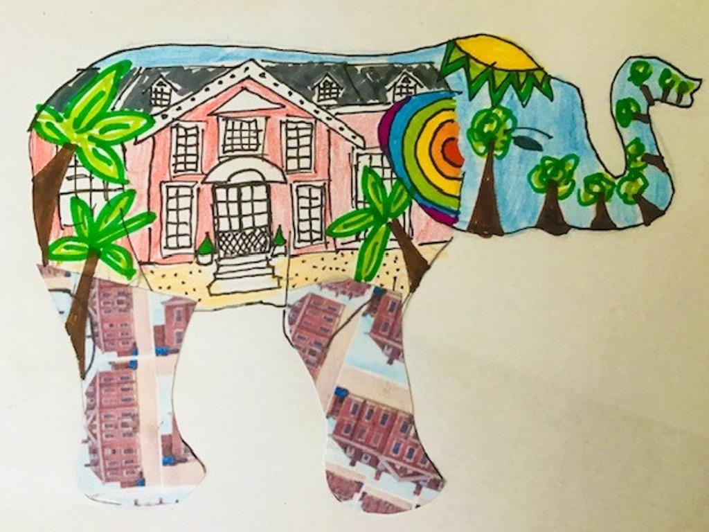 Beechwood Park School's elephant sculpture design