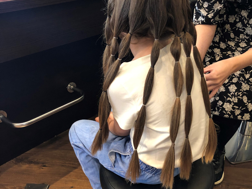 Phoebe Donates Her Hair