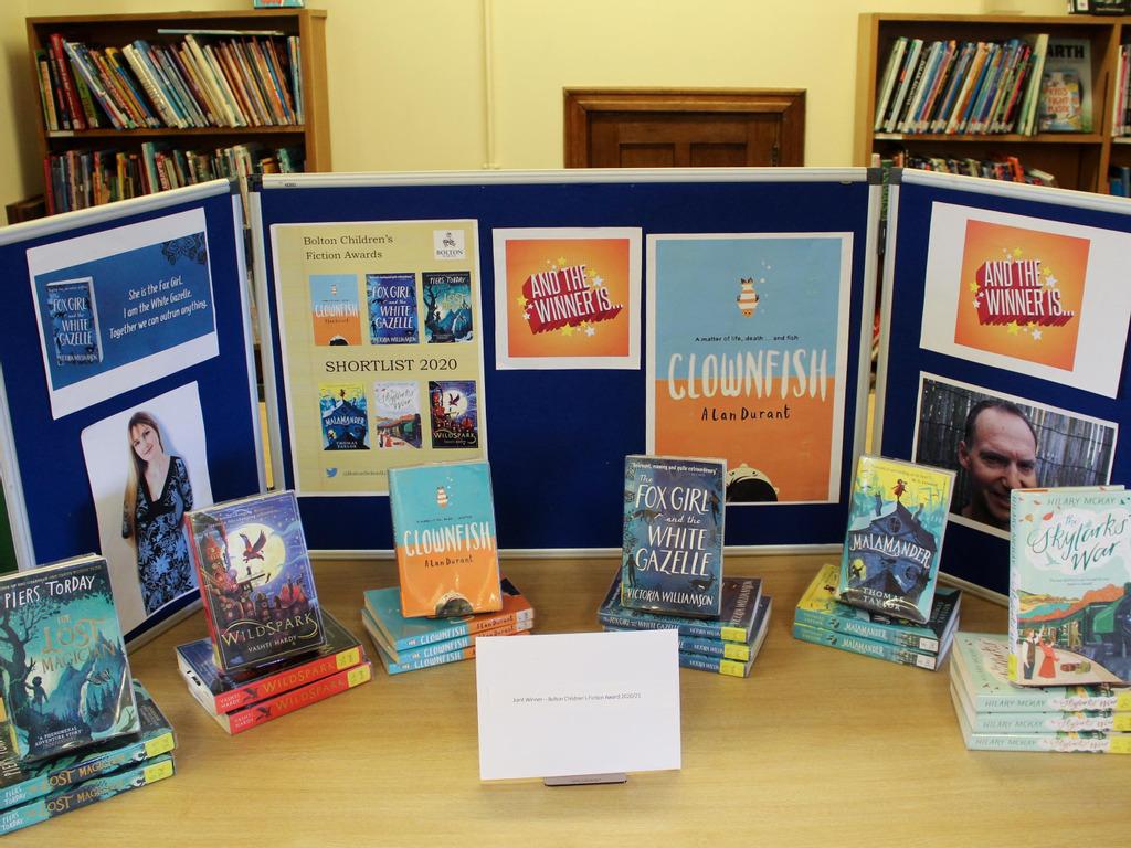 Double Winners for 2020/21 Bolton Children's Fiction Award