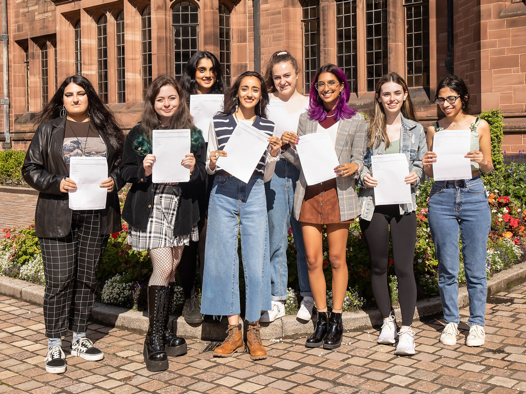 Return of Results Day Celebrations at Bolton School Girls' Division