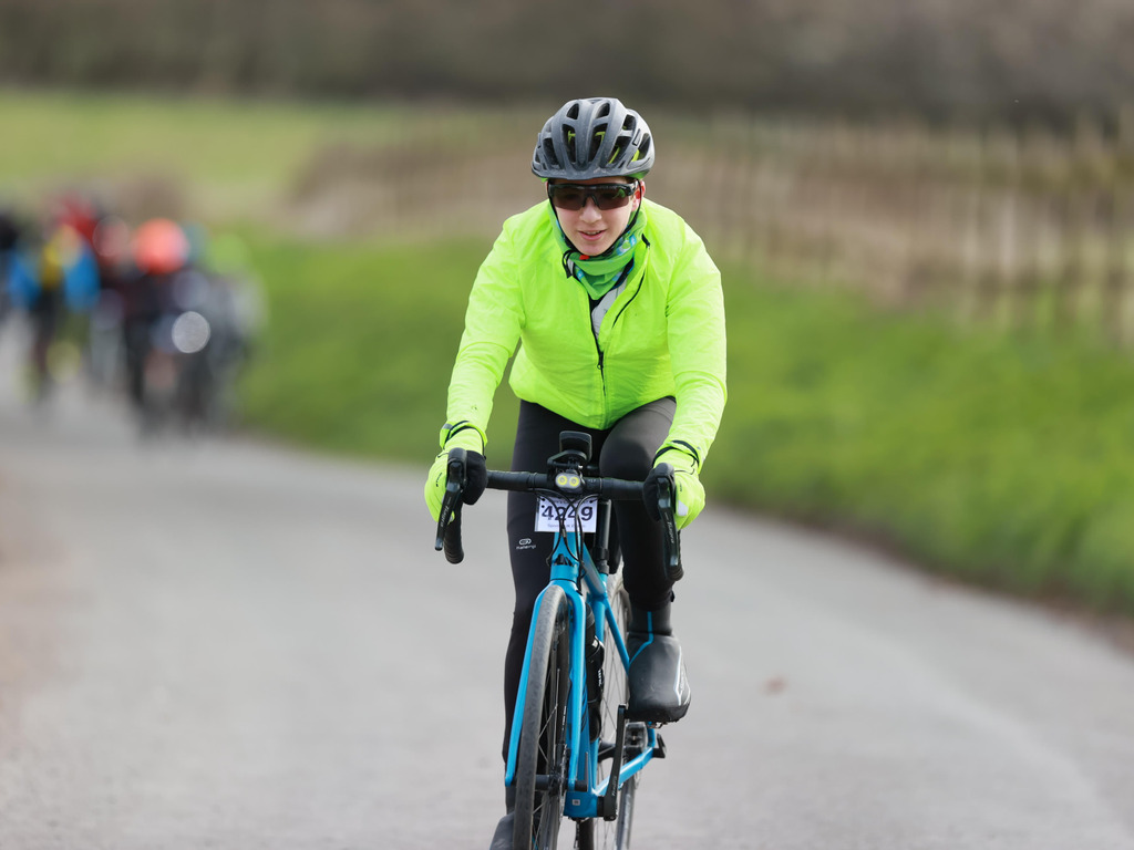Harry riding in the Ware's Cambridge 80 mile Sportive
