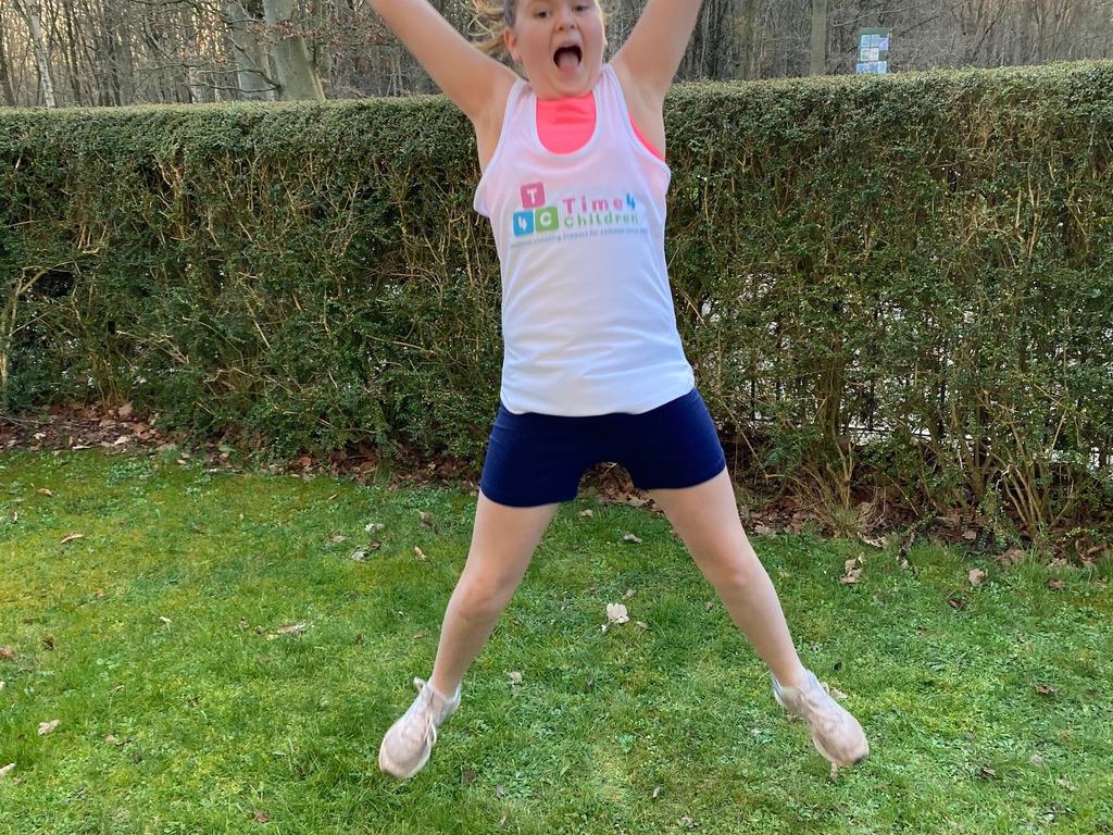 Emily Runs over 100km for Time 4 Children