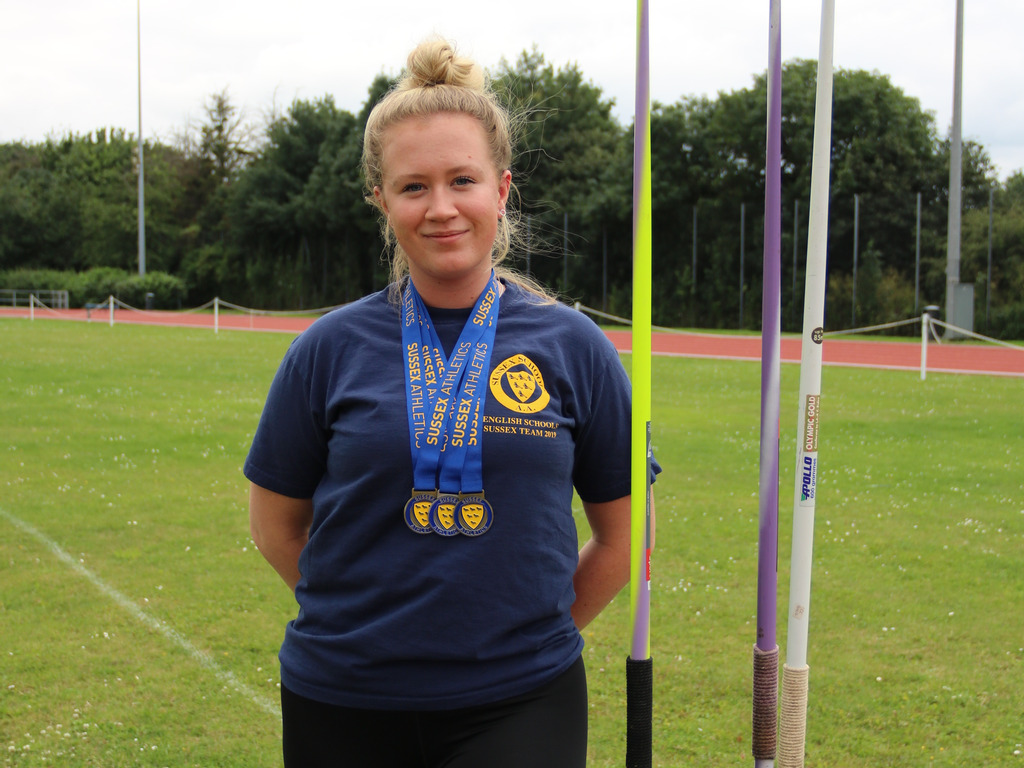 Peanut Completes Double Double at Sussex Athletics Champs