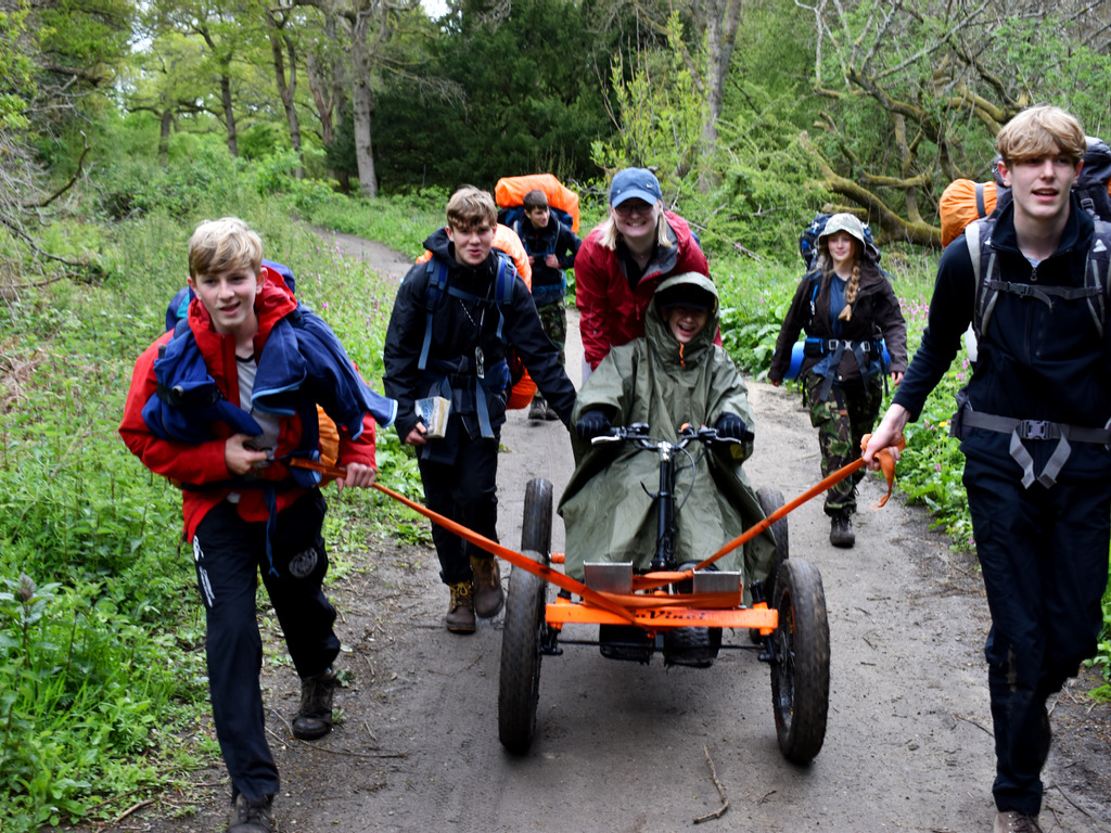 – Lasting legacy to HRH Prince Philip The Duke of Edinburgh as Gordon's students take it in turns to pull the motorised buggy along with two passenger