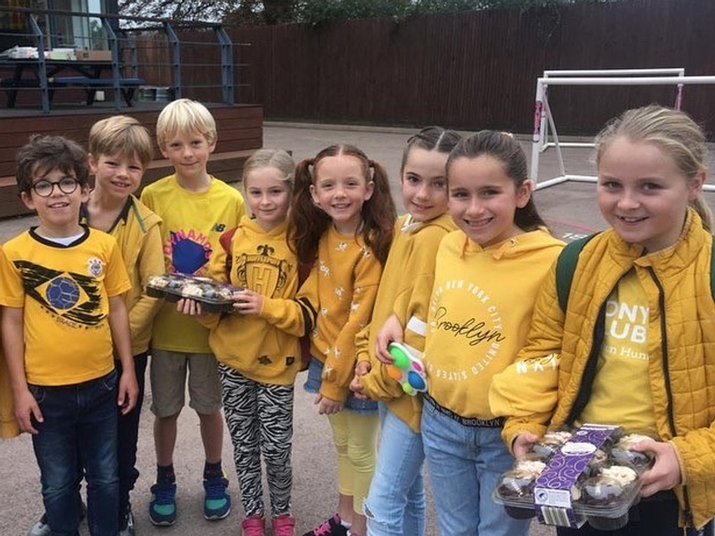 Sea of yellow transforms schools for mental health day