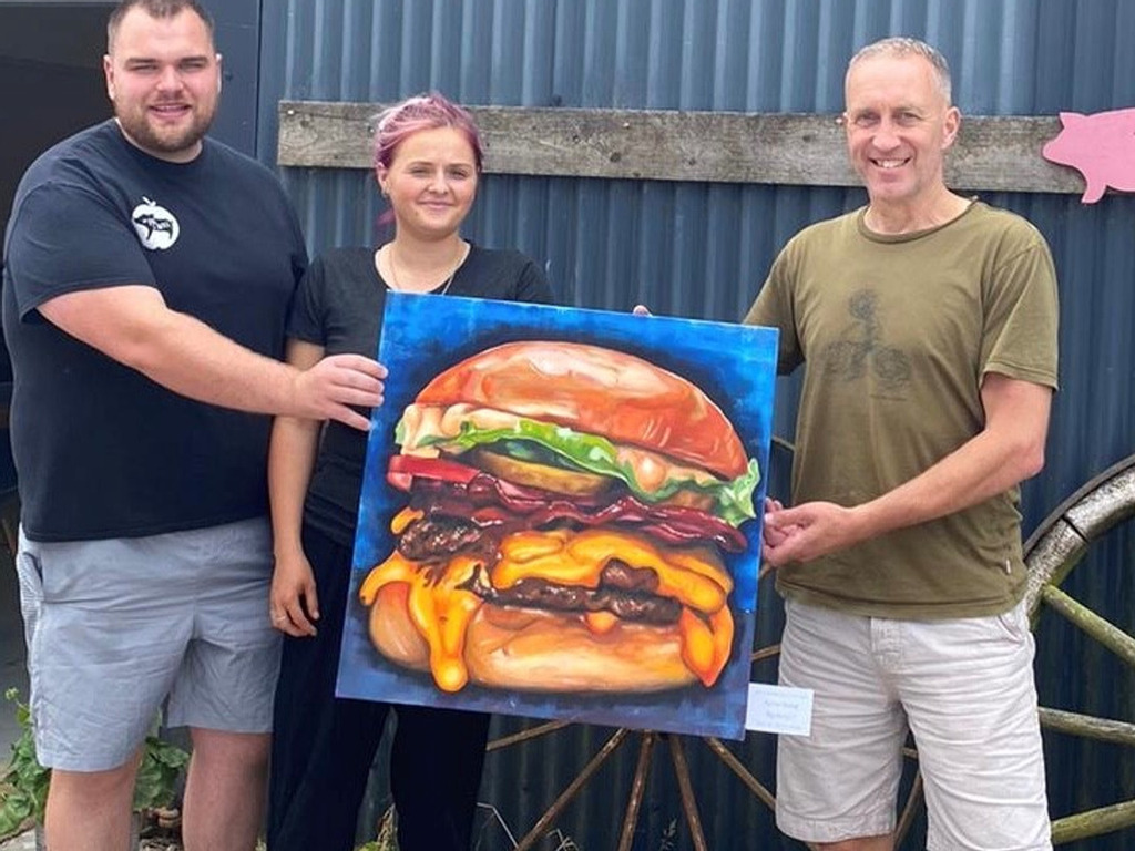 Student's mouth-watering painting finds home at farm owned by Kate Humble
