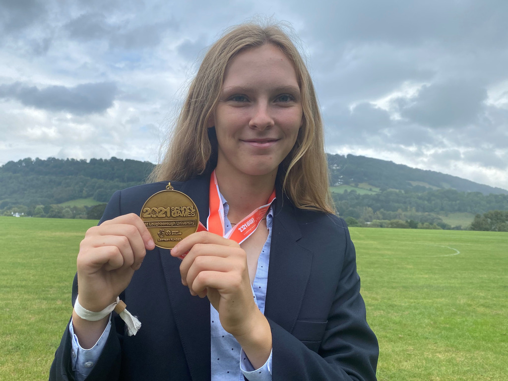 Gold medal joy for cricket ace Sophia in national School Games