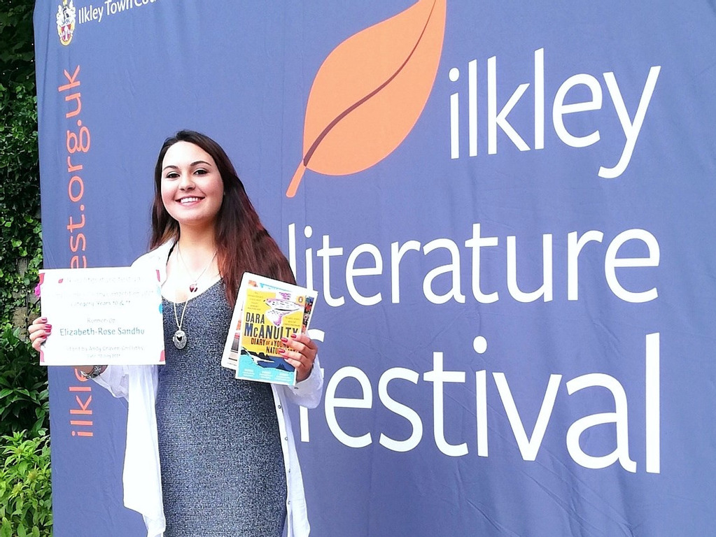 Budding writer's literary success at prestigious festival