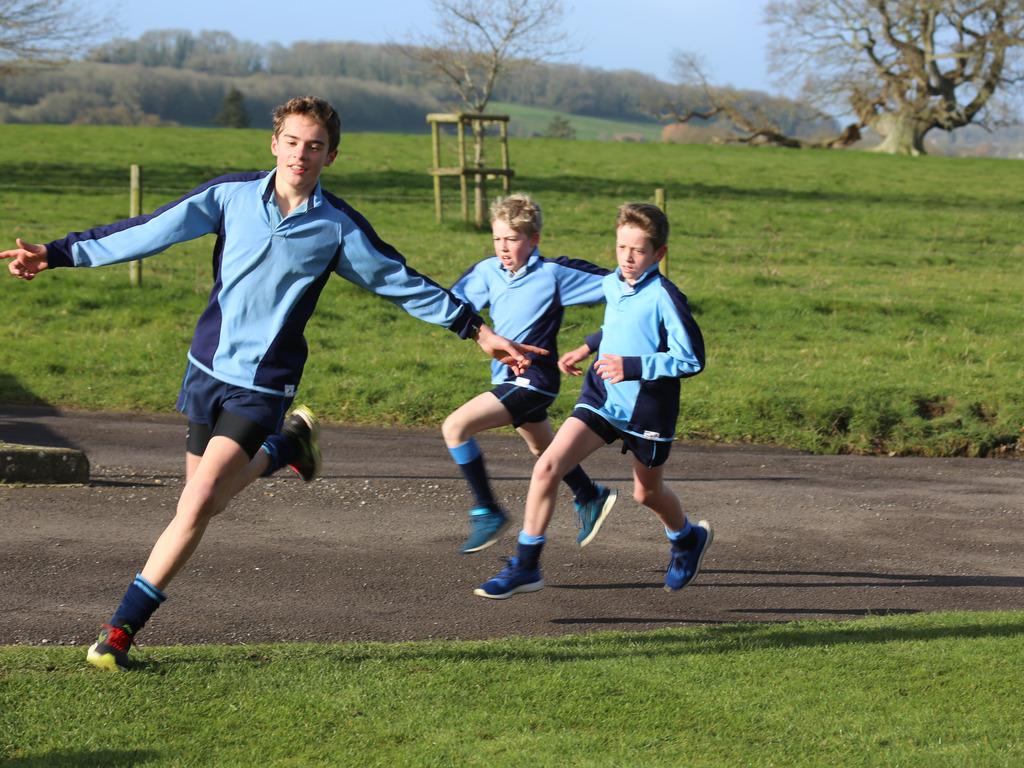 Children enjoying a park run last year
