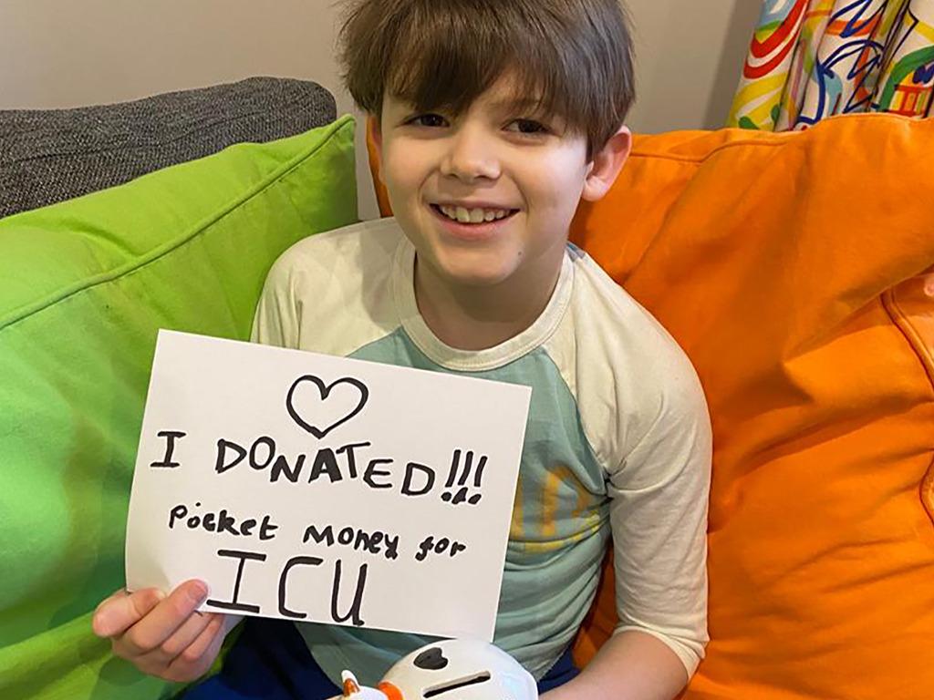 Jacob donated his pocked money