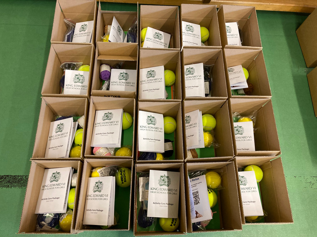 KEHS activity boxes giving Birmingham primary school children a sporting chance
