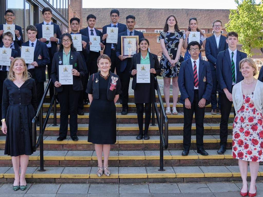 West Midlands Lieutenancy recognises pupils for their service