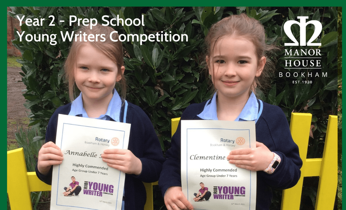Annabelle and Clementine in Year 2 of the Prep School at Manor House School