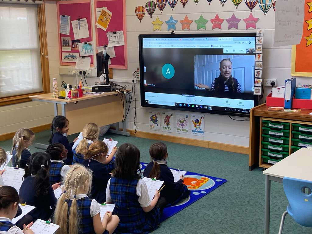 Students from Northampton High are joined virtually by presenter Grace Webb