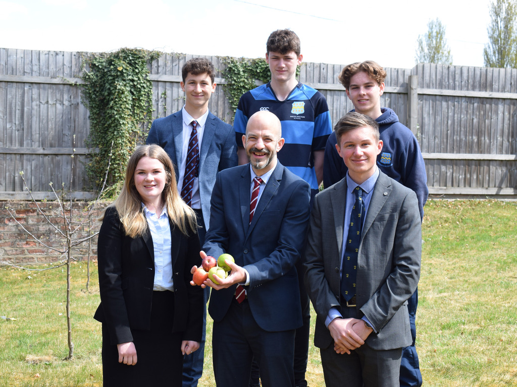 Pocklington School Sixth Formers with Mr Robyn Robin Crewes, Business and Economics teacher