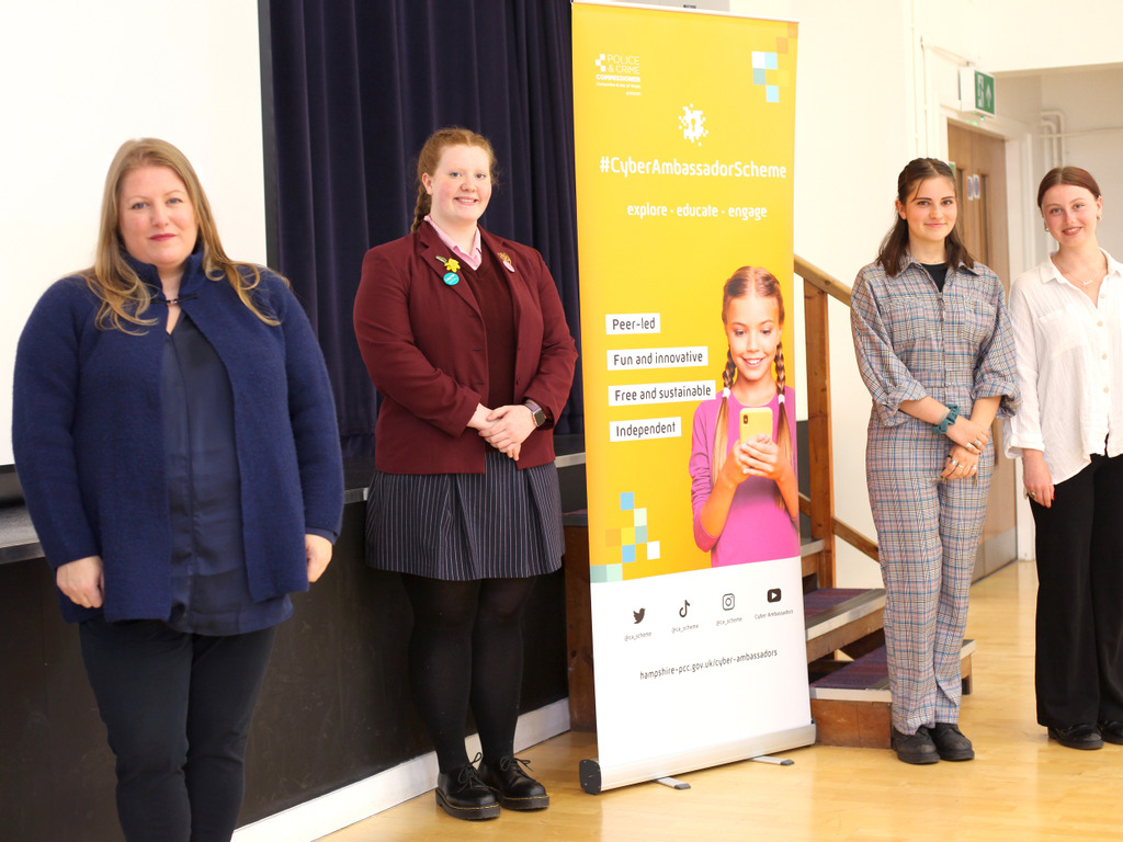 Police Commissioner's new cyber safety programme to help secondary pupil's follow the right digital path launched at Portsmouth High School