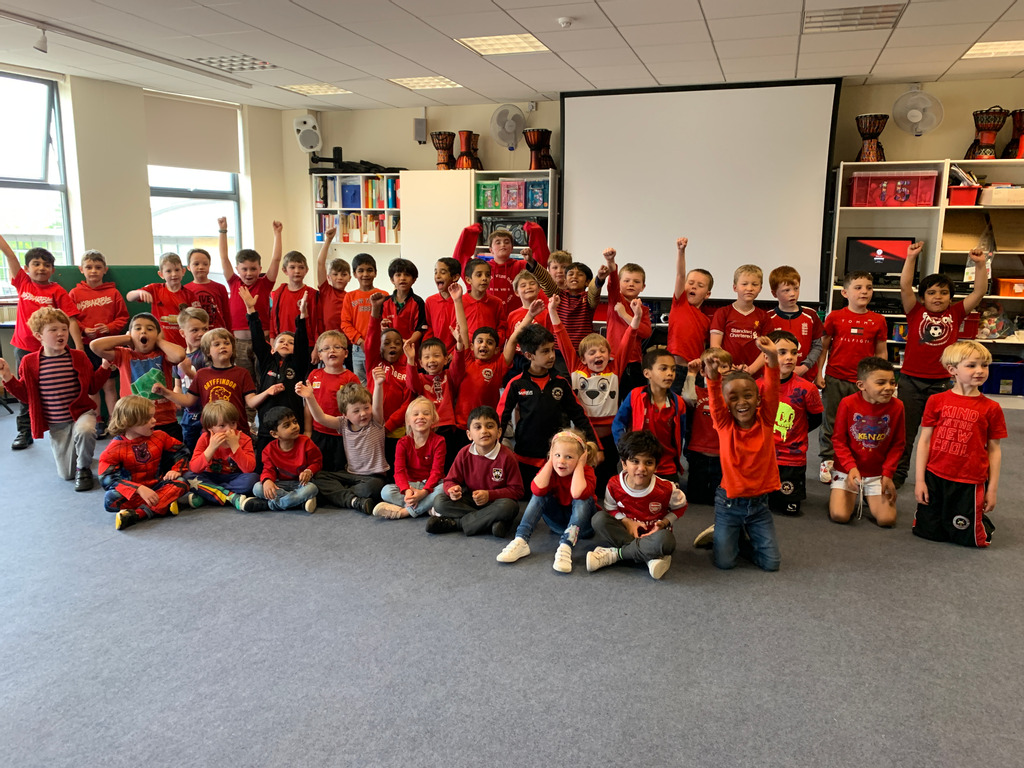 St Columba's Prep pupils wore red to support REDS4VEDS Day.