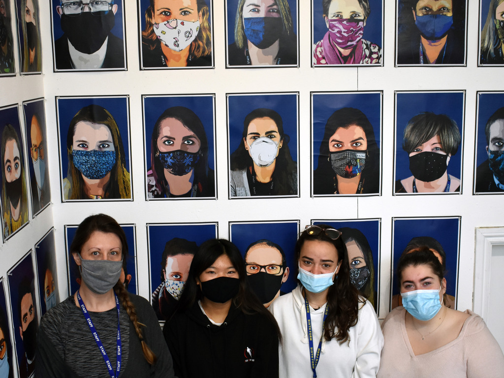St Mary's School's poignant 'Portraits of a Pandemic' project