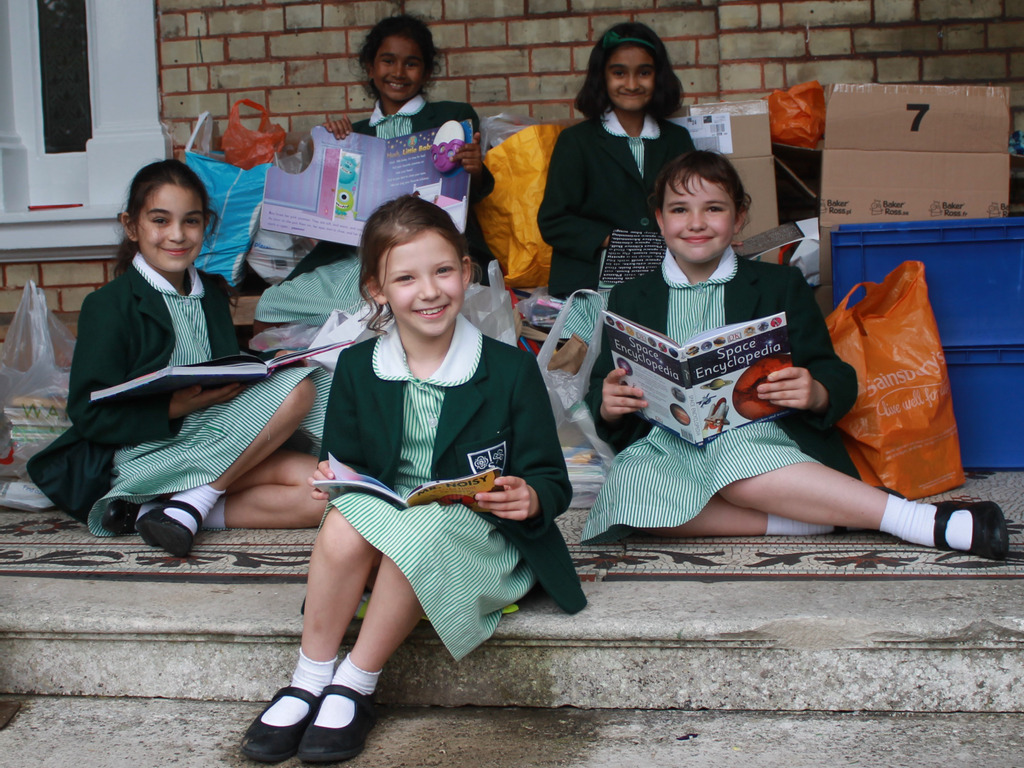 Book Drive at Stormont School with The Children's Book Project