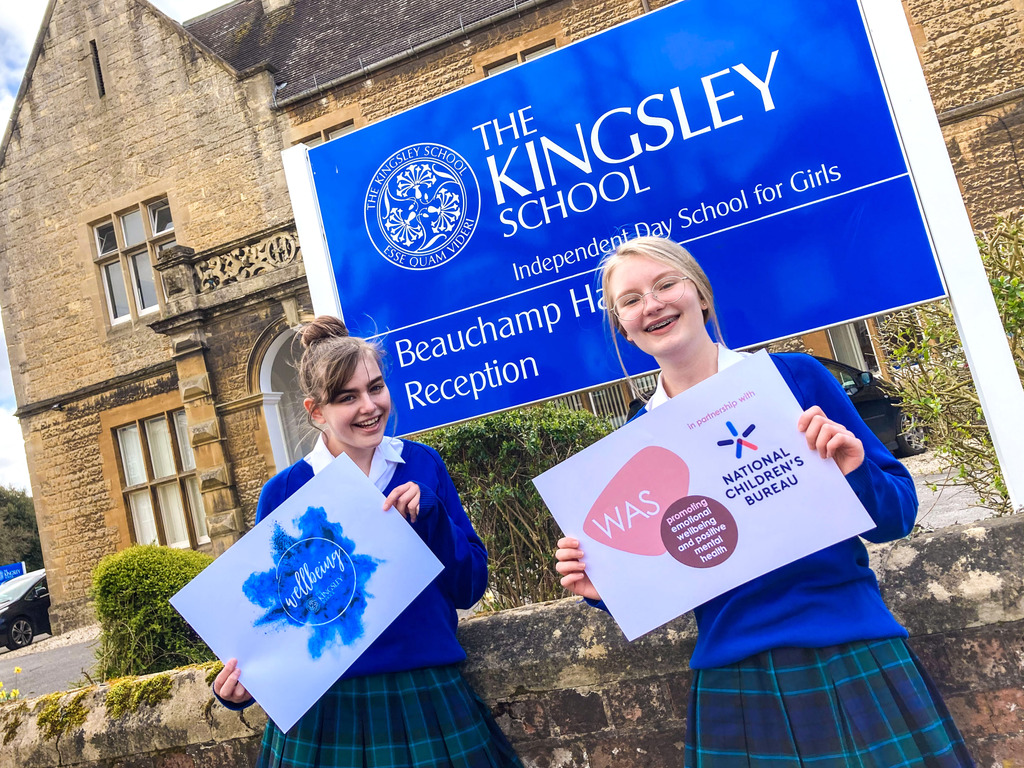 The Kingsley School Wellbeing Award: Year 9 pupils Maddie Gamble and Emily Meixner