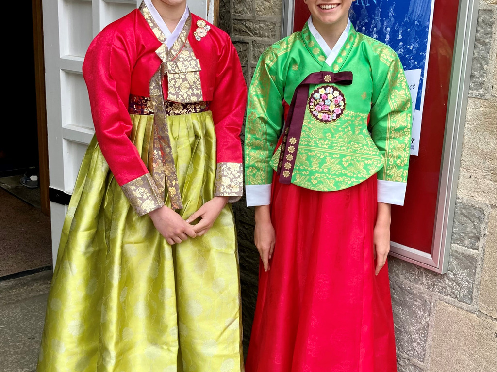 Year 8s Gwener and Lauren selected to perform in G7 World Peace Concert