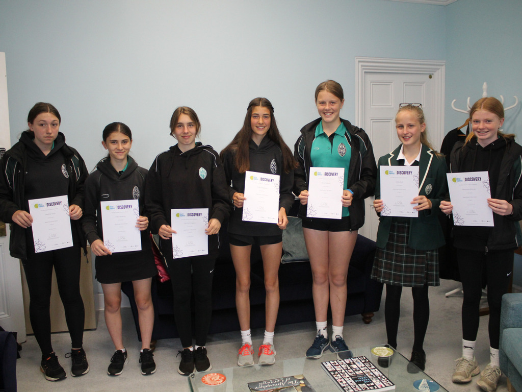 Truro High Year 9 students earn the CREST Discovery Award
