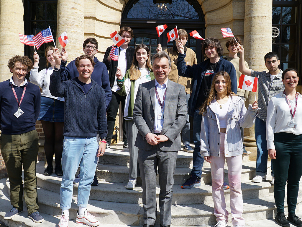 Year 13 pupils from UCS celebrate their offers from US and Canadian universities