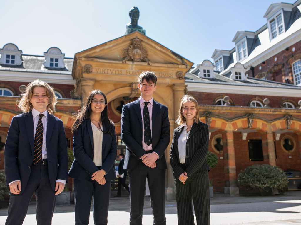 Debating Champions Arthur Grigg, Anjali Darling, Atticus Christie-Miller and Charlotte Grigg