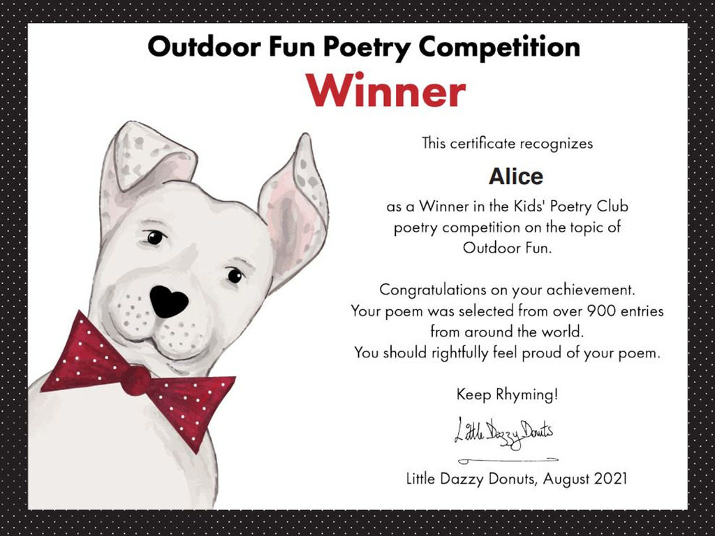 International Poetry Prize Winner